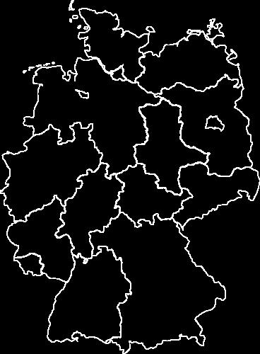 Deutschland Karte Outlines_white